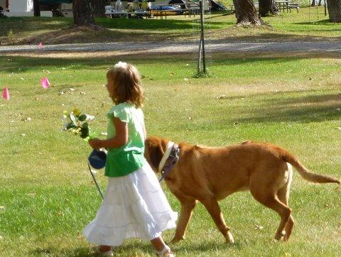 Flower Girl at Wagonhammer Campground Wedding