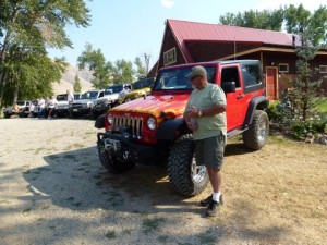 Jeep Traveling to Idaho Wagonhammer Campgrounds