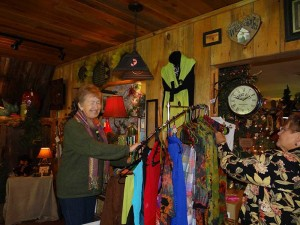Owner Shirley Schultz helping customers, Idaho gift shops