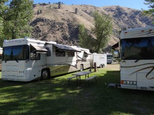 Foretravel Coaches, Idaho RV Parks, Wide Sites