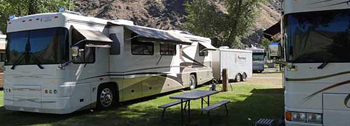 Foretravel RV club, Wagonhammer Idaho Campgrounds