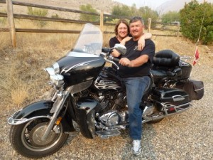 Bikers Judy and Rod, Biker friendly campgrounds