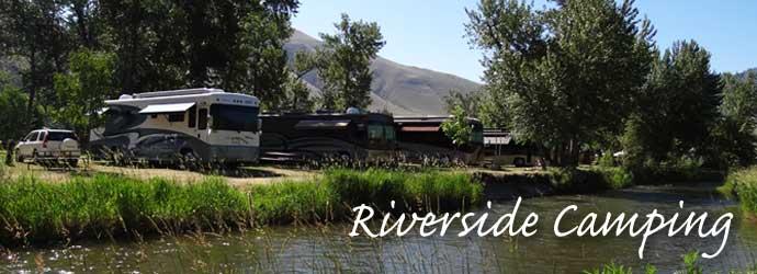 Camp by River Idaho