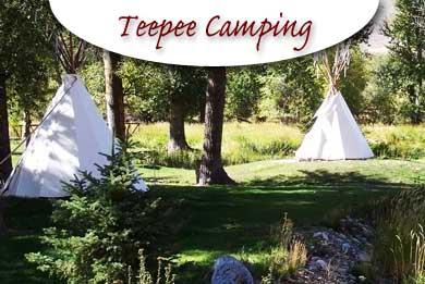 Idaho Teepee camping