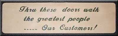 Welcome customers appreciation sign