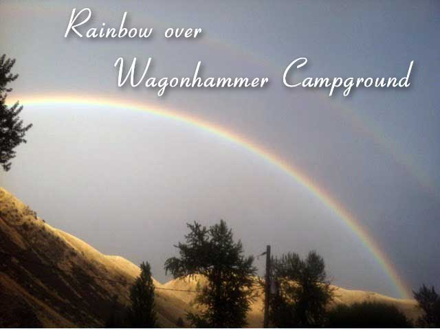 Rainbow over Wagonhammer Campground