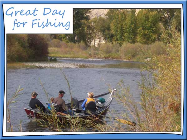 Boat fishing on Salmon River