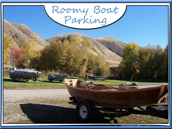 Boats parked in campground