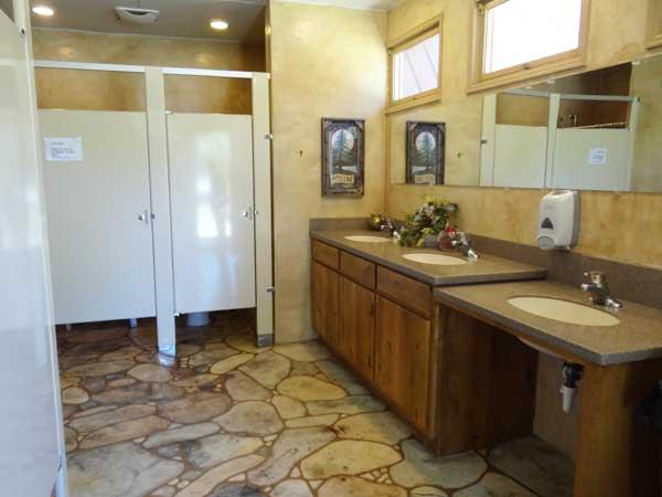 Campground Pristine Bathrooms
