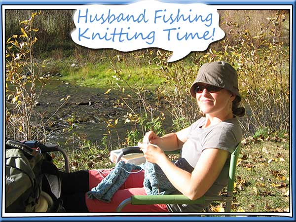 Knitting by the river