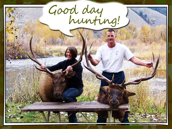 Elk Success, hunting campgrounds