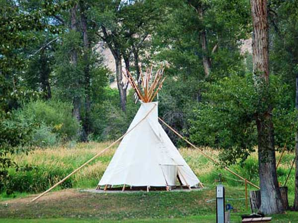 Tipi Camping in Idaho